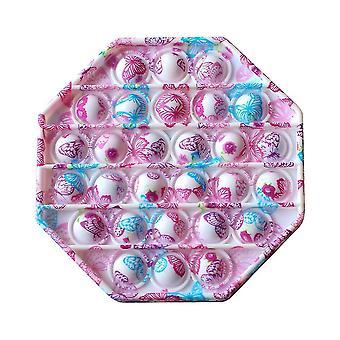 Zeitgenössisch inspirierter Push Pop Siliziumblase Autismus Anti Stress sensorisches Zappel spielzeug (C)