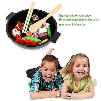 かわいい木製デザインベビーキッズキッチンおもちゃ早期教育料理おもちゃ