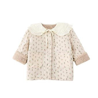 Girls Autumn And Winter Floral Cotton Padded Jacket Children's Cotton-padded Jacket Baby Cotton-padded Jacket