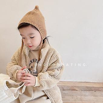 2021 Children's Coat Fall/winter Children's Lamb Velvet Cotton-padded Jacket Girls Plus Velvet Jacket Cotton-padded Jacket