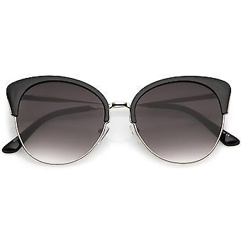Негабаритных половины кадра Cat глаз очки с круглой нейтральный цвет плоский объектив 58 мм