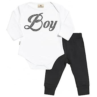 Spoilt Rotten Boy Design Babygrow & Jersey Trousers Outfit Set