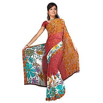 Bhavna Georgette impresos Casual sari Sari Bellydance tela