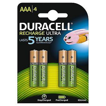 Duracell 850mAh Pre aufgeladen wiederaufladbare AAA-Batterien - Pack 4