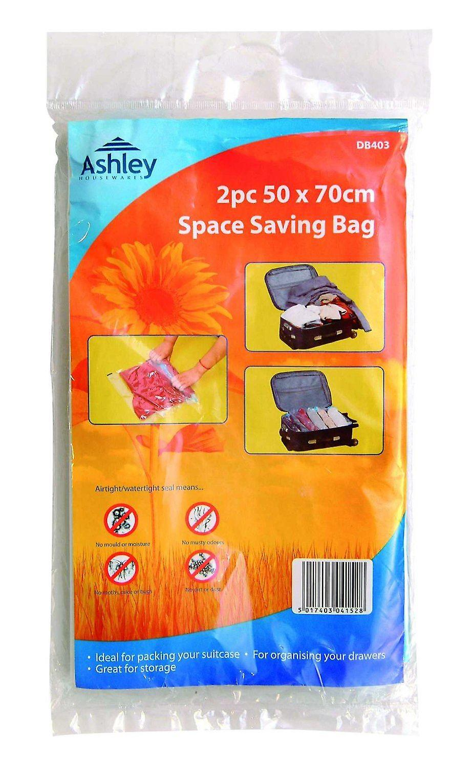 2 Pack Space Saving Bag 50 cm X 70Cm