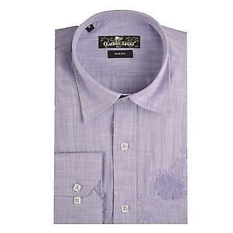 Camisa de linho Mens Claudio Lugli lilás