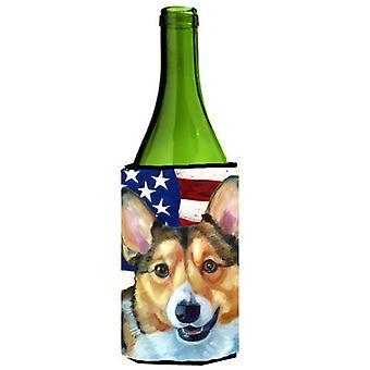 Corgi USA patriottische Amerikaanse vlag wijnfles drank isolator Hugger