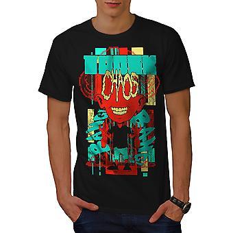 Chaos Zombie martwy moda mężczyźni BlackT-shirt   Wellcoda