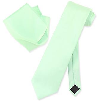 Vesuvio Napoli Solid NeckTie & Handkerchief Mens Neck Tie Set