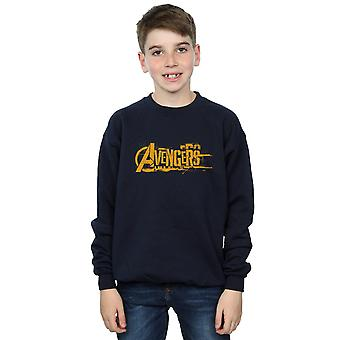 Marvel Boys Avengers Infinity War Orange Logo Sweatshirt