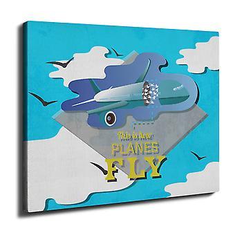 Planes Fly Wall Art Canvas 40cm x 30cm | Wellcoda