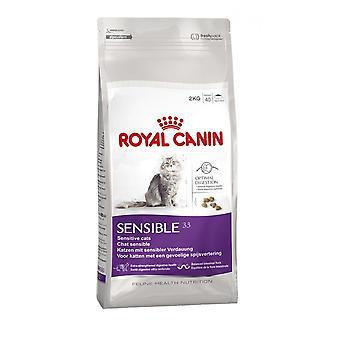 Royal Canin Sensible Katze Adult Trockenfutter Katze ausgewogen und füllen Sie Katzenfutter 2KG