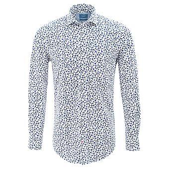 Tresanti White Mens Shirt With Stylistic Flower Print