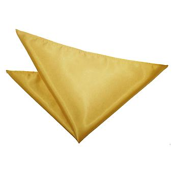 Quadrato di oro Plain Satin Pocket