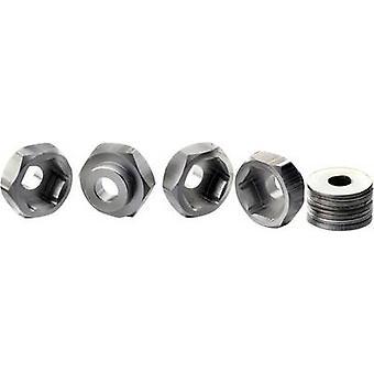 Absima 12 mm --> 17 mm 1:10 Aluminium Felgennabe Aluminium 4 Stk./s
