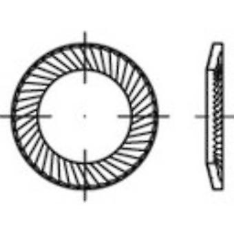 Zahnsicherungsscheiben 3 mm 5,5 mm Federstahl verzinkt 500 Stk.159349