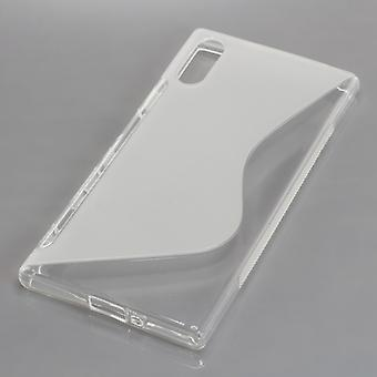 Mobile Shell S-line TPU protection case bumper shell for Sony Xperia XZ Tranpsarent