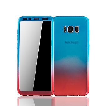 Samsung Galaxy S8 Schutzcase pleine de logement mobile couvrent 360 film de protection écran bleu / rouge