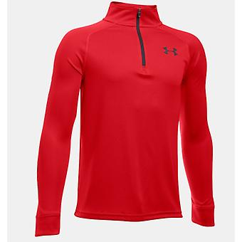 Under Armour long sleeve of 1/4 zip tech boys red 1291599-600