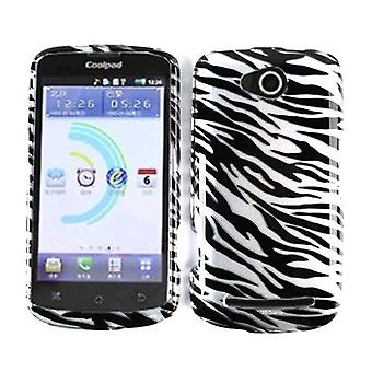 Snap-On Protector geval voor CoolPad 5860E / Quattro 4G - transparante Zebra Print