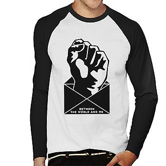 Must Read Book Covers Between The World And Me Men's Baseball Long Sleeved T-Shirt