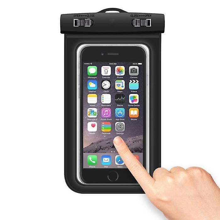 Stuff Certified® Waterproof Case Pouch Bag Universal iPhone Samsung Huawei Black - Up to 5.8