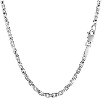 14 k oro blanco Cable enlace collar de cadena, 3,1 mm