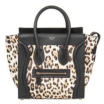 Micro di Celine bagagli Tote Bag | Leopard e stampa nera