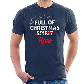 Täynnä joulun rommi miehiä on t-paita