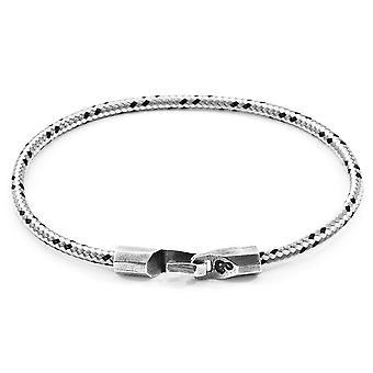 Âncora e tripulação Talbot prata e pulseira - traço cinzento da corda