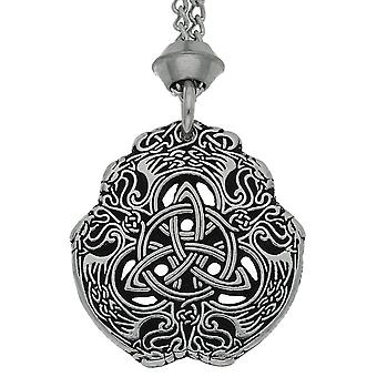 Handmade Eagle Celtic Knot Triquetra Pewter Pendant ~ For Protection