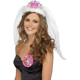 Smiffy's Bride To Be Tiara With Veil