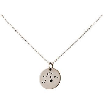 Constellation halsband horoskop Aquarius Aquarius 925 silver, guldpläterad, ros