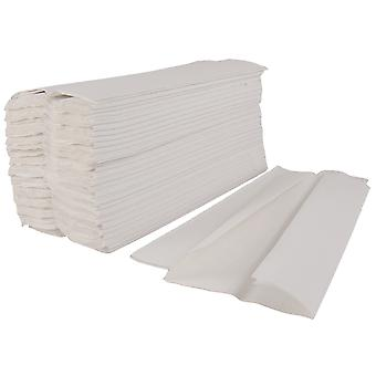 Staples White Centre Fold 1 Ply Hand Towels