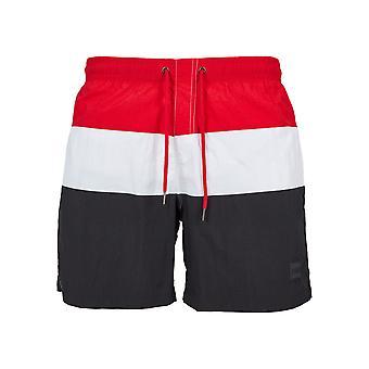 Urban classics męskie szorty kąpielowe kolor bloku