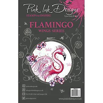 Pink Ink Designs Flamingo Wings Series 12 Clear Stamp Set