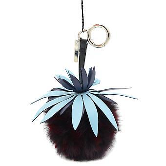 Fendi Multicolor Leather Key Chain