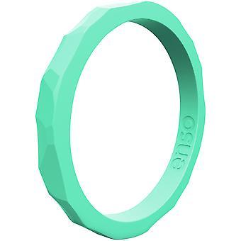 Anelli di Enso martellato stackable serie anello di Silicone - gomma piuma del mare