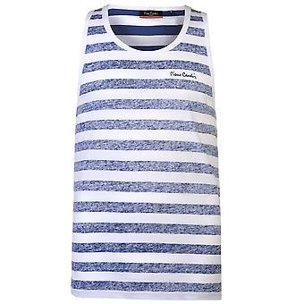 Pierre Cardin Mens reverso colete sem manga blusa t-shirt T-Shirt