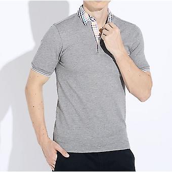 Фред Перри мужчин смелые проверить накренилась отделкой Slim Fit короткие рукава рубашки поло