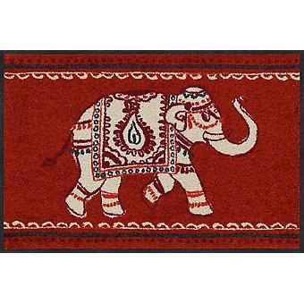 Salon lion paillasson éléphant indien 50 x 75 cm. saleté lavable mat