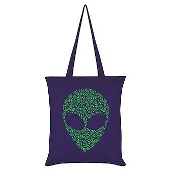 Grindstore Graphic Alien Tote Bag