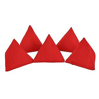 Rosso cotone Pack di 5 triangolare giocoleria Bean Bags per gioco all'aperto