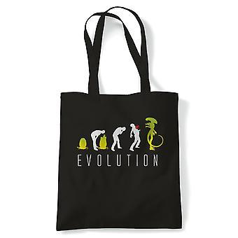 Evolution von Alien, lustige Sci-Fi Tote - wiederverwendbare Shopping Canvas Tasche Geschenk