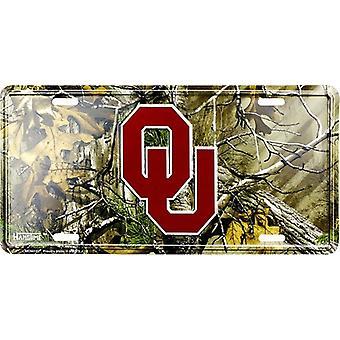Oklahoma Sooners NCAA Camo License Plate