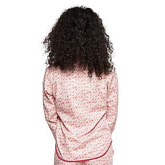 Cyberjammies 4206 Damen Evie rot Mix Fan Print Baumwolle Pyjama Top