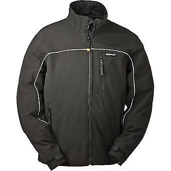 Caterpillar Mens Softshell Full Zip Jacket Black