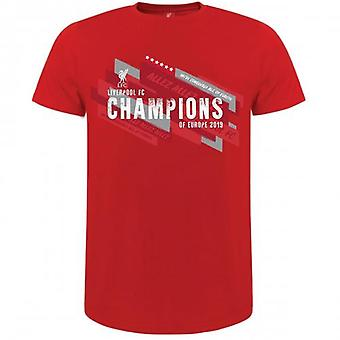 Liverpool Champions Of Europe T Shirt Mens S