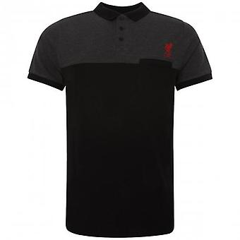 Liverpool Block Polo Shirt Mens Black S