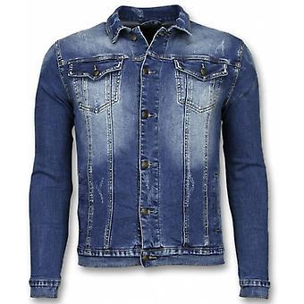 Denim Jacket - Stone Wash Denim Jacket - Blue